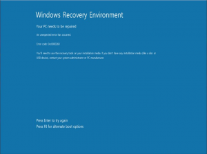 Windows 8 error code 0xc0000260